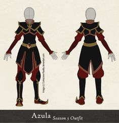 Azula Season 3 Outfit Reference by ~Corkscrew-Reality on deviantART