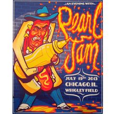 Pearl Jam Wrigley Field Poster 7/19/2013 #Chicago #Munk One