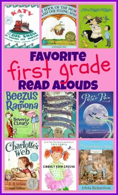 Looking for some books for kids? Check out this awesome list of read alouds for first graders - picture books, chapter books, and poetry!