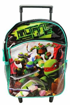 Nickelodeon Boys 2-7 Teenage Mutant Ninja Turtles 12 Inch Mini Rolling Backpack,Green, One Size Discount - http://mydailypromo.com/nickelodeon-boys-2-7-teenage-mutant-ninja-turtles-12-inch-mini-rolling-backpackgreen-one-size-discount.html