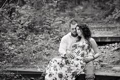 Black and white image Alex and Kristin maternity session, Amy Ro Photography
