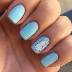 #nail#nails#design#art#cute#bunny