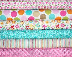 Summer Breeze Fabric bundle by Bella Blvd for Riley Blake Fabrics-  Yard Bundle, 6 total on Etsy, $57.00
