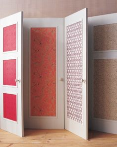 Wallpapered Door Panels ... Martha Stewart is my hero