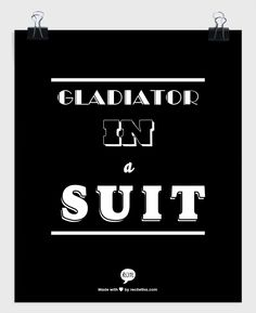 Gladiator in a suit #scandal