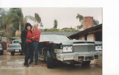 Me buying a 1974 Cadillac Eldorado Convertible from an attractive  artistic model in La Jolla ,San Diego in 1990