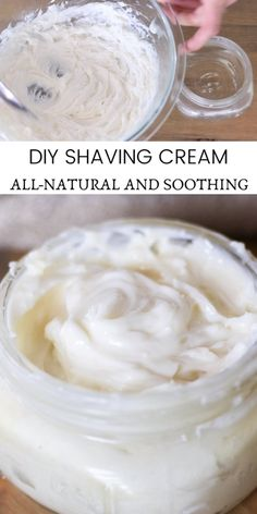 Learn how to make the best homemade shaving cream with 4 all-natural ingredients. DIY shaving cream recipe with coconut and shea butter is moisturizing and soothing to the skin. Natural Hair Treatments, Natural Remedies, Herbal Remedies, Cold Remedies, Health Remedies, Eczema Remedies, Coconut Recipes, Cream Recipes, Homemade Shaving Cream