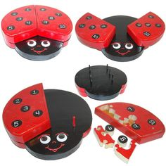 Counting Ladybug Childrens Educational 3D Puzzle - Ready to ship