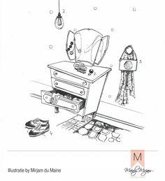 #ELLEtekenwedstrijd #illustratie #aquarel #pentekening made by #MirjamduMaine Coco's #kleedkamer met haar favoriete merken #parfume #chanel  #hanglamp #citylights #ring #floweryourday #schoenen #hogan #mode #color #interieur #styling #madewithloveintheheartofholland #stijlretaildesign #mainlymirjam