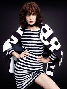 Dot Dot Dash  Elle March 2015 Photographer: Horst Diekgerdes Fashion Editor/Stylist: Sabina Schreder Casting Director: Zan Ludlum Model: Zlata Mangafic