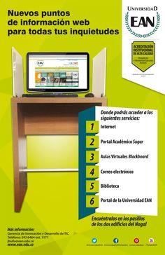 EANista: conoce los nuevos puntos de información Web dentro de tu Universidad. University, Universe, News, Dots