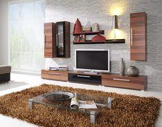 Obývacia stena MAX (orech/čierny lesk)