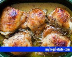 Mustard Baked Chicken | HCG Chicken Recpies
