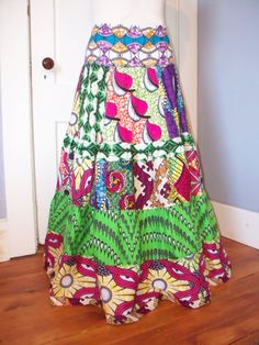 Bright and Colorful African Wax Prints Long by bluemermaid123, $69.00