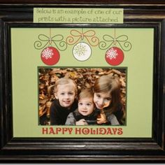 I love this idea - create a custom printable mat for an 8x10 frame.  From Tip Junkie