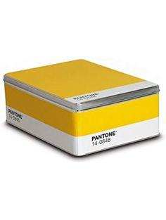 Pantone Metal Storage Box Mimosa ❤ AESTHETIC MOVEMENT