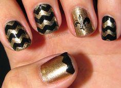 15 Best Saints Nails Images On Pinterest Pretty Nails Gold Nails