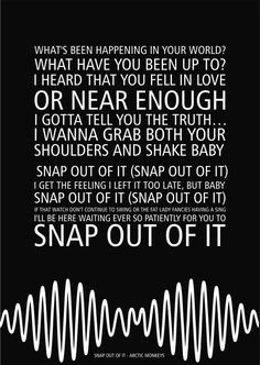 arctic monkeys | snap out of it