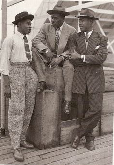 The Empire Windrush  in 1948, all sporting brogues.