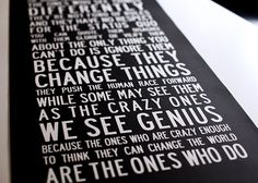 THE CRAZY ONES Inspirational Art Think by TheMemoryGallery on Etsy,
