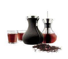 Eva Solo - Zaparzacz do herbaty 1.0l neopren czarny + 2 szklanki