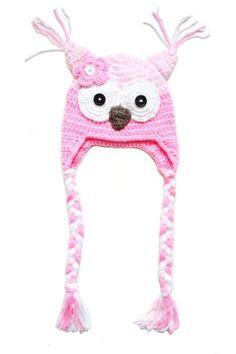 Hekla rosa ugle lue til baby og barn. Crochet Kids Hats, Tweety, Barn, Fictional Characters, Pink, Converted Barn, Barns, Fantasy Characters, Sheds