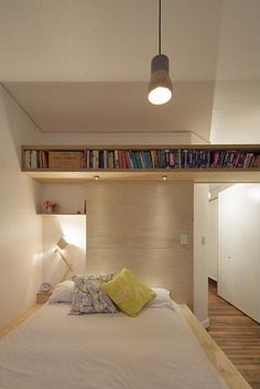 Big ideas for a small Art Deco apartment - clever storage makes this small contemporary apartment work!