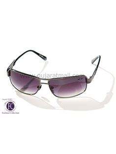 Buy Designer Sunglasses Classic Look Gunmetal Metallic Frame Gradient Gray Lens • GujaratMall.com