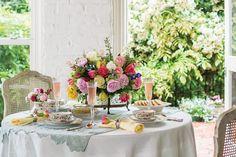 Spring Luncheon Tablescape @ Victoria Magazine