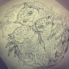 Mommy and baby owl tattoo idea!