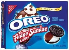 yum yum yum Weird Oreo Flavors, Cookie Flavors, Chocolate Sundae, Chocolate Cookies, Sandwich Cookies, Oreo Cookies, Oreos, Nabisco Oreo, Starbucks