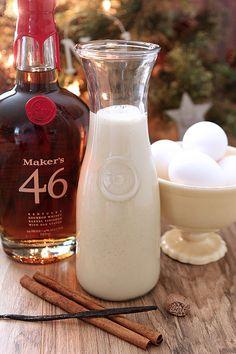 Homemade Vanilla Eggnog with Maker's Mark 46 #GetCozyCocktail