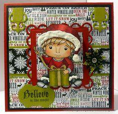 Charmed Stamping: La-La-Land Crafts Christmas Present Luka handmade card