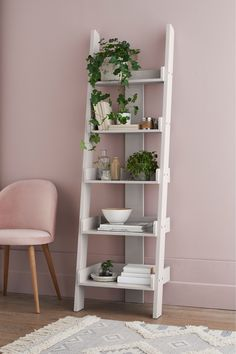 Buy Mode Ladder Shelf from the Next UK online shop Next Mode Ladder Shelf - Grey Plywood Furniture, Furniture Ideas, Hans Wegner, Next Mode, Bookcase Shelves, Shelving Units, Corner Shelves, Bedroom Bookcase, Oak Shelves