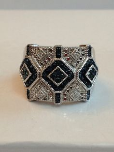 Hey, I found this really awesome Etsy listing at https://www.etsy.com/listing/200505885/vintage-jewelry-ring-blue-white-diamond