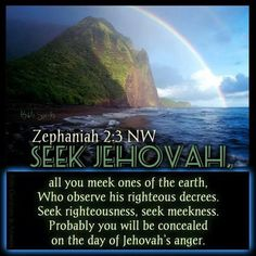 Seek Jehovah all you meek ones of the earth. Bible Quotes, Bible Verses, Holy Quotes, Biblical Quotes, Faith Quotes, Jehovah Names, Jehovah Witness, Bible Promises, Gods Promises
