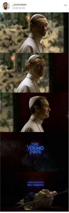 Opening credit scenes from The Young Pope. It really good. Gives you a different prospective.
