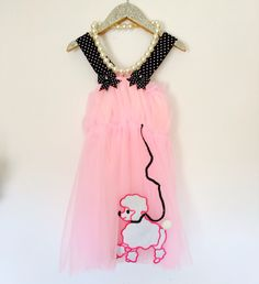 Private Listing Karen Tom 50's Poodle Girl Dress and chunky pearl necklace. by LondyRose on Etsy https://www.etsy.com/listing/199737251/private-listing-karen-tom-50s-poodle