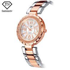 FTV Original Ladies Bracelet Watch Crystal Wrist Watches For Women Beautiful Female Quartz-watch Silver Fashion Relogio Feminino