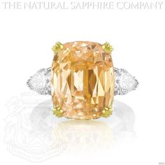 Padparadscha Sapphire Ring (J2633), Signed by Graff. #TheNaturalSapphireCompany
