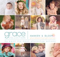Paint the Moon Photoshop Actions ... NEW Release - The Grace Collection