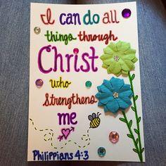 Heather's Divine Designs Sharing God's Word Through Art Philippians 4:13 Custom Made Scripture Note Cards  www.heathersdivinedesigns.com