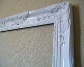 """Vintage Inspired FRAME Only-ANY Color-White-30""""x 24"""" Lg Victorian Ornate Wood Frame-Pictures-Portraits-Prints-Photo Props-Photo Prop Frame. $155.00, via Etsy."""