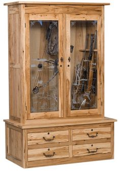 Gun Cabinet Plans for a wood store                                                                                                                                                                                 More