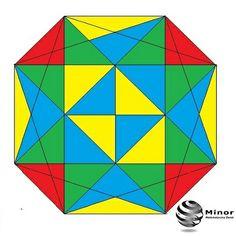 Ile kwadratów wpisano w podany ośmiokąt?
