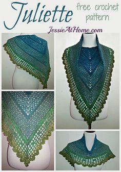 Juliette Shawl By Jessie Rayot - Free Crochet Pattern - (ravelry)