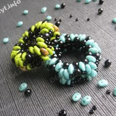 Free SuperDuo Beaded Ring Tutorial featured in Bead-Patterns.com Newsletter!