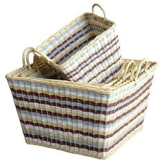 I pinned this Jeffan 5 Piece Misty Wicker Basket Set from the Great Outdoors event at Joss and Main!
