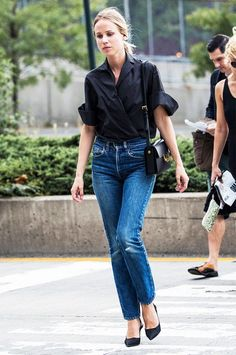Definitive Proof That Mom Jeans ARE Stylish via @WhoWhatWear