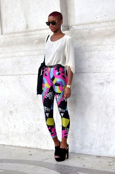 If I was skinny enough to wear such leggings... via Black and Killing it tumblr